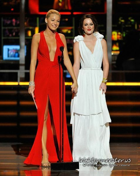 BLAKE , SERENA , GOSSIP GIRL , DRESS , RED , VALENTINO | BLAKE AND ...