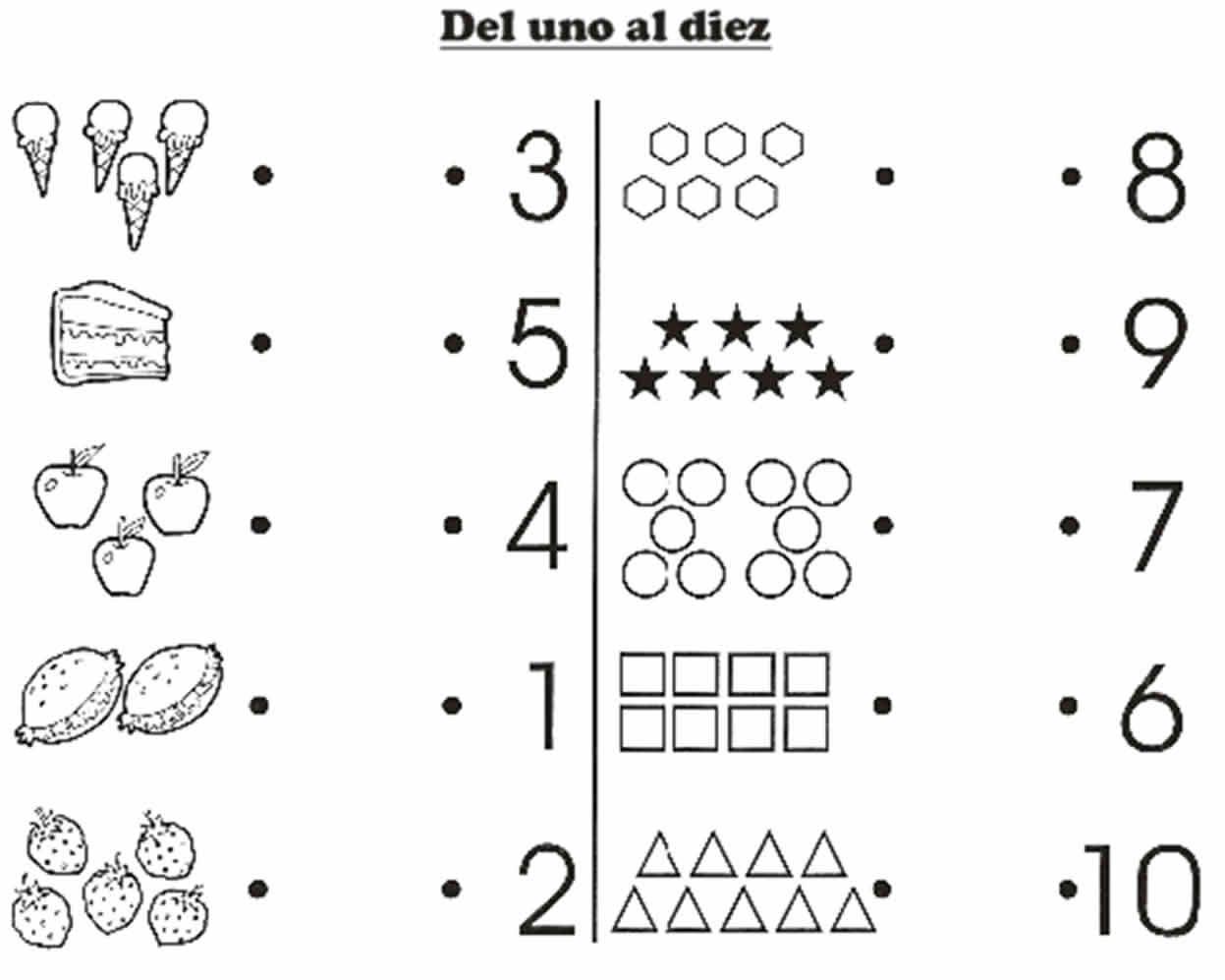 Del 1al 10 Matematicas Para Guarderia Fichas Estrategias De Ensenanza Aprendizaje