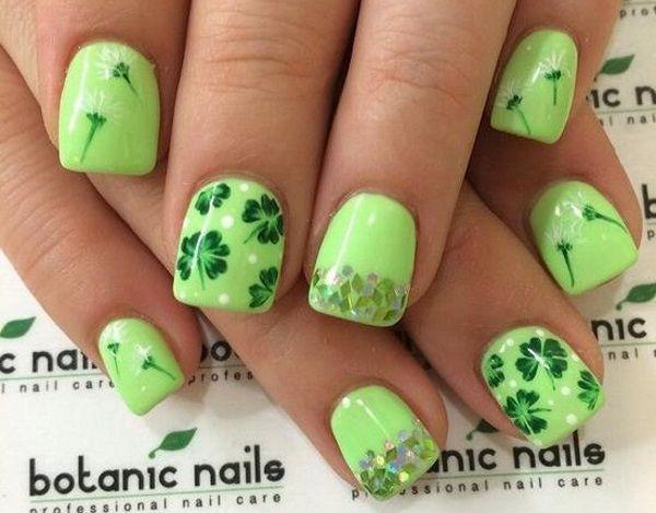 30 Four Leaf Clover Nail Art Ideas Nail Art Pinterest Nails