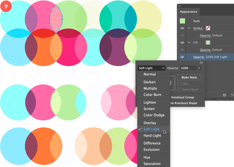 Colorful Pattern Masking In Illustrator Color Patterns Color Mask