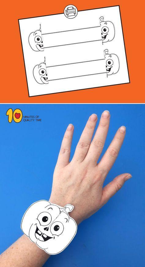 Halloween Pumpkin Printable Bracelet