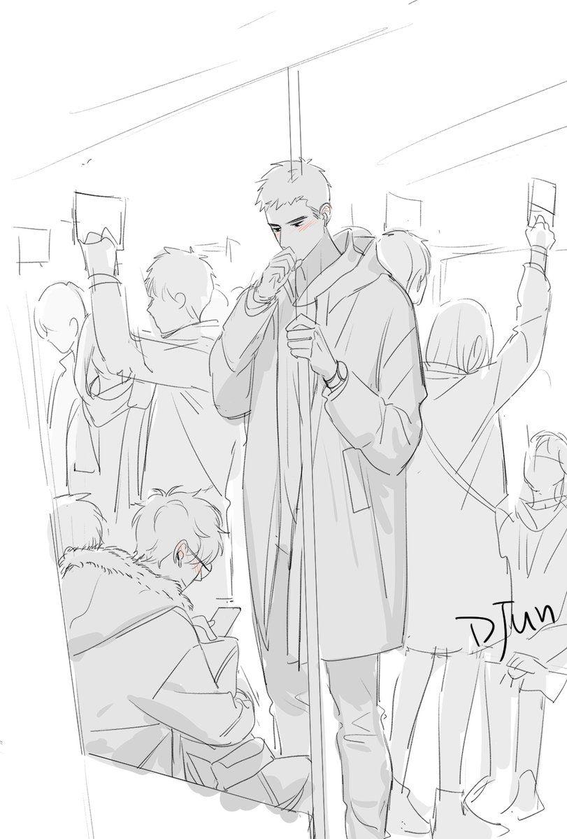 DJUN (DDjuner) Twitter Manga anime, Art, Cute art