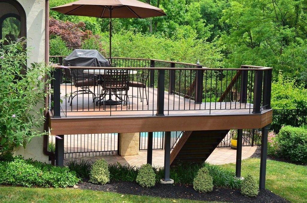 Deck Sl*P* Hill Level Landscape Design Ideas New Home 400 x 300