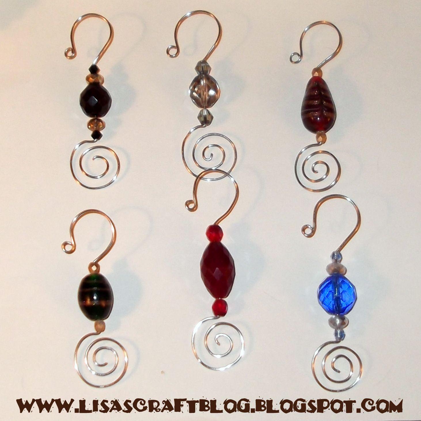 Lisa 39 s craft blog tutorial beaded ornament hooks for S hooks for crafts