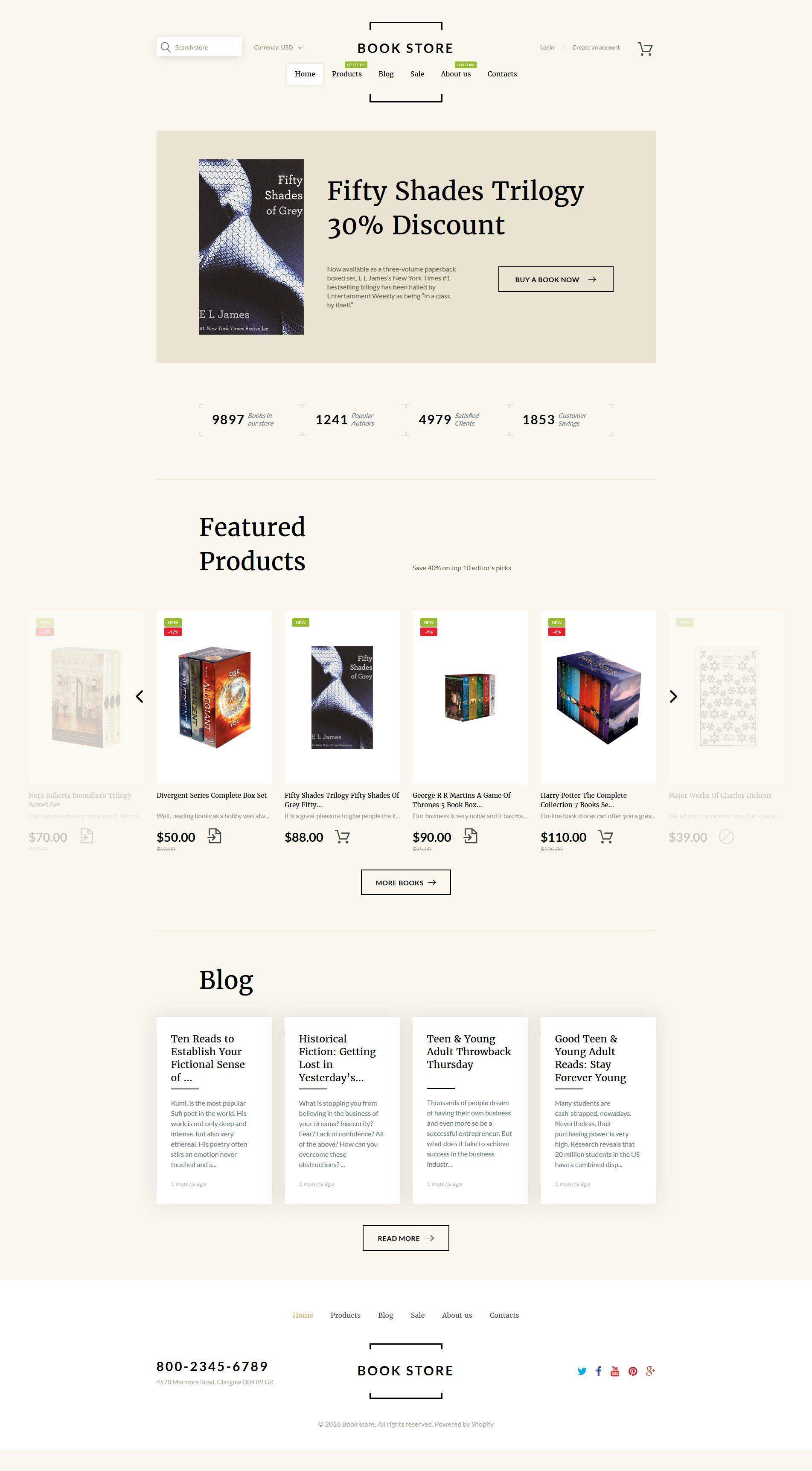 Book Shop Shopify Theme   Ui inspiration