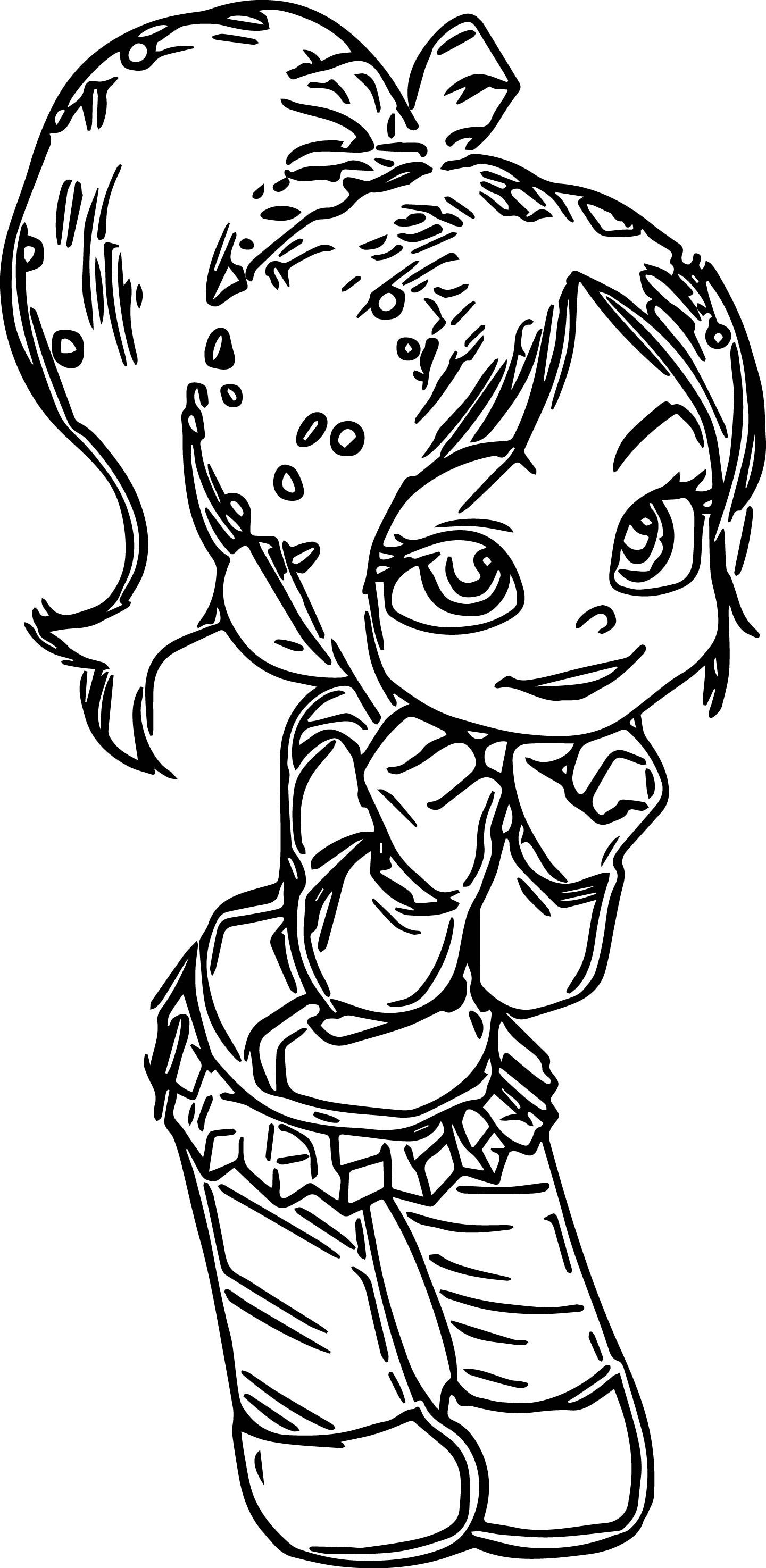 Vanellope Von Schweetz Girl Coloring Page Princess Coloring Pages Coloring Pages For Girls Monster Coloring Pages
