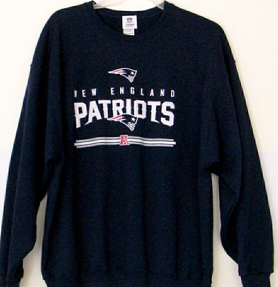 best service b99b2 31b74 NFL New England Patriots Sweatshirt Blue 2XL Team Apparel ...
