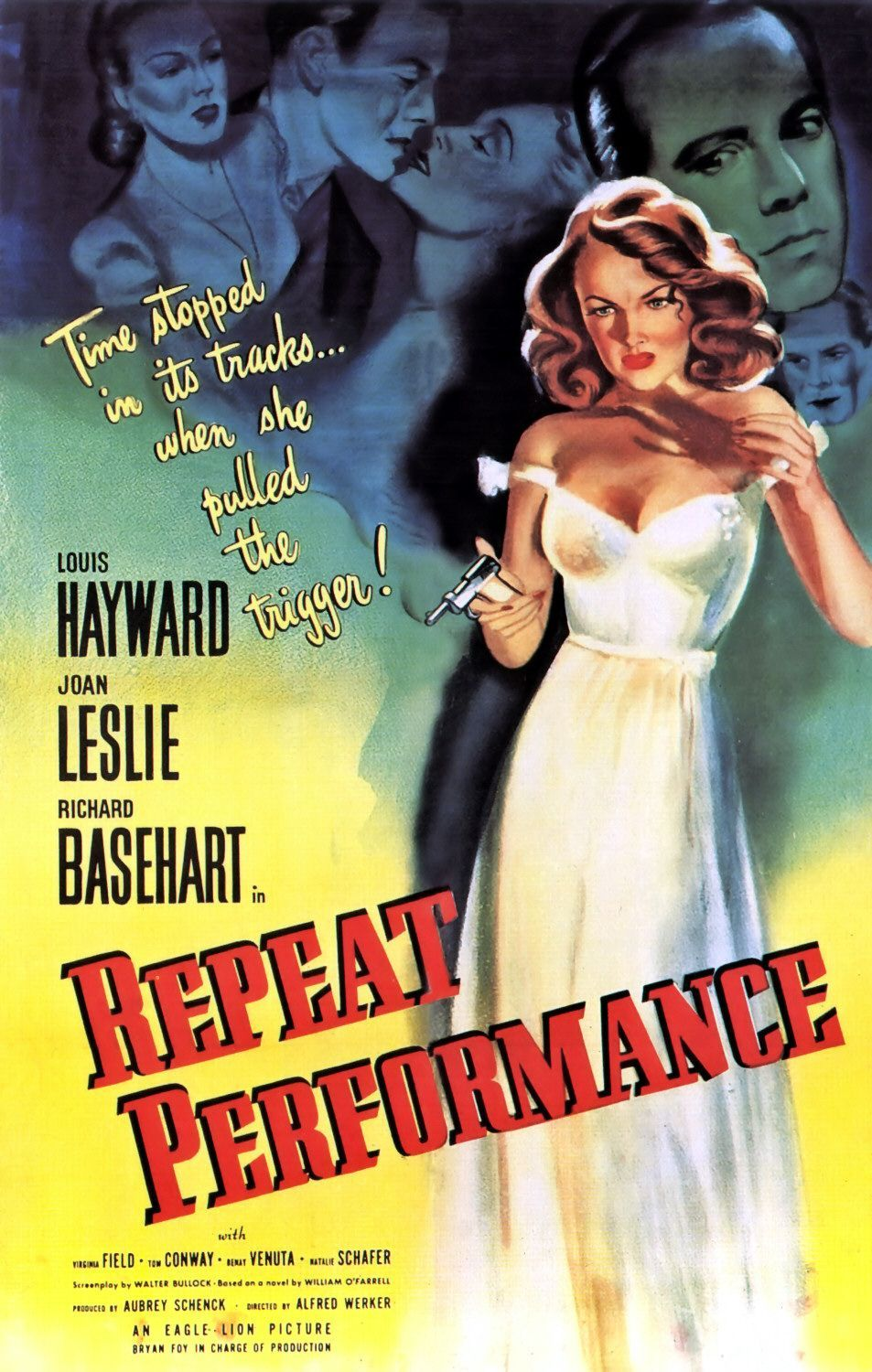 Repeat Performance Extra Large Movie Poster Image Internet Movie Poster Awards Gallery Movie Posters Old Film Posters Film Noir