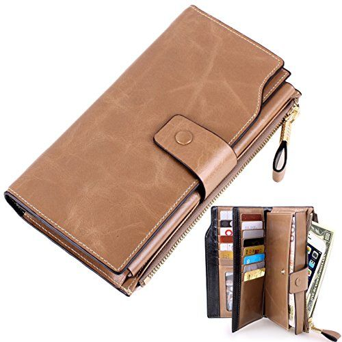 1525354fc6e Womens Lady's Large Luxury Wallets, Lecxci Genuine Cowhide Leather ...