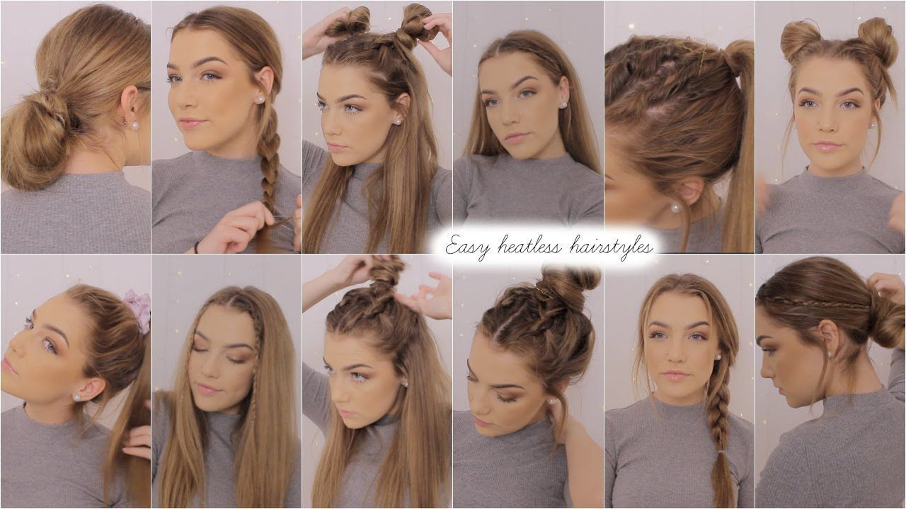 easy heatless hairstyles ♡ #easyhairstyles | easy