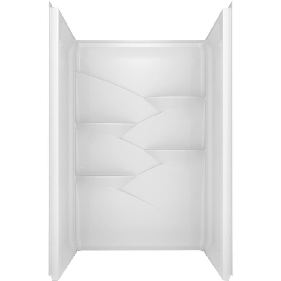 Delta Laurel High Gloss White Acrylic Shower Wall Surround Side and ...