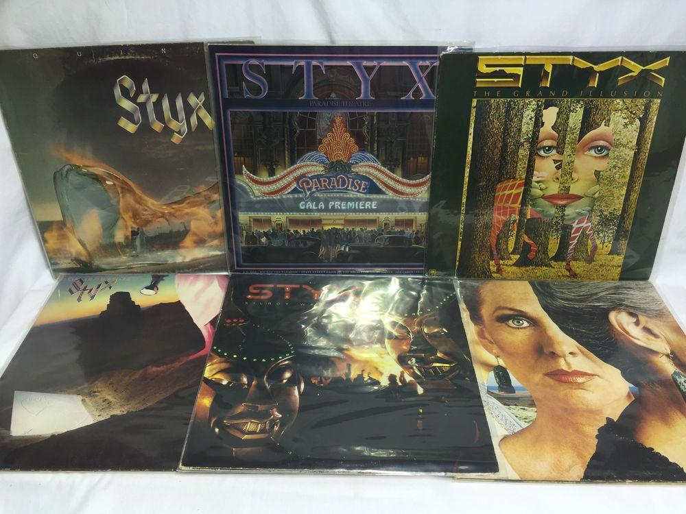 styx vinyl record lp lot equinox paradise theater grand illusion