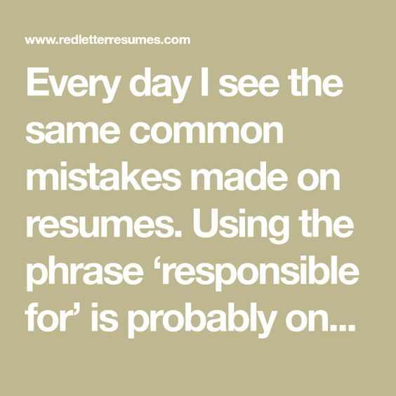 Why Using the Words \u0027RESPONSIBLE FOR\u0027 Gets You Nowhere!