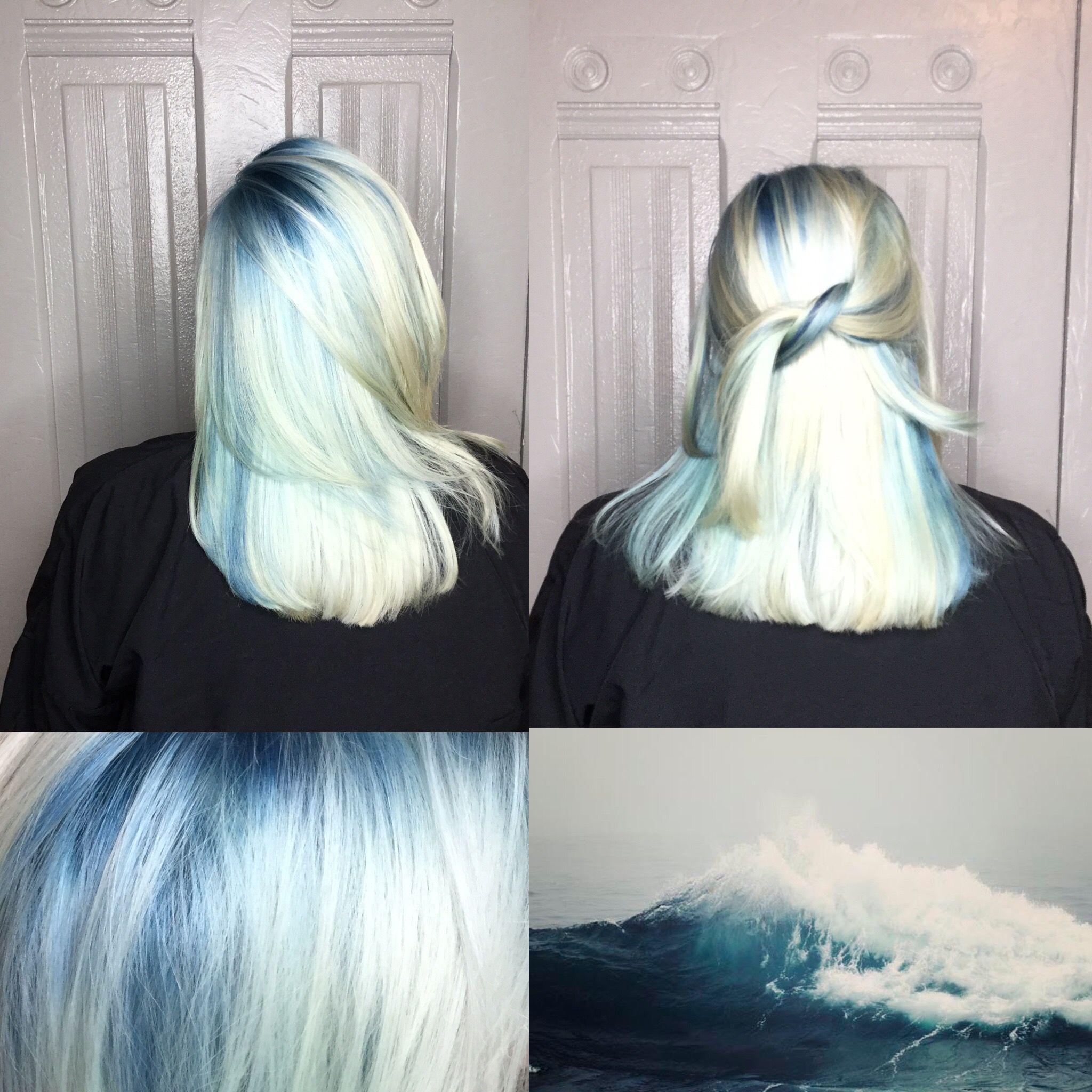 Plush In 2019 Blue Grey Hair Grey Blonde Hair Platinum