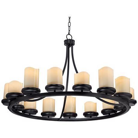 rustic bronze chandelier island light augusta 42
