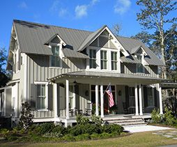 Folk Victorian Styling With Board Batten Siding Exposed Rafter