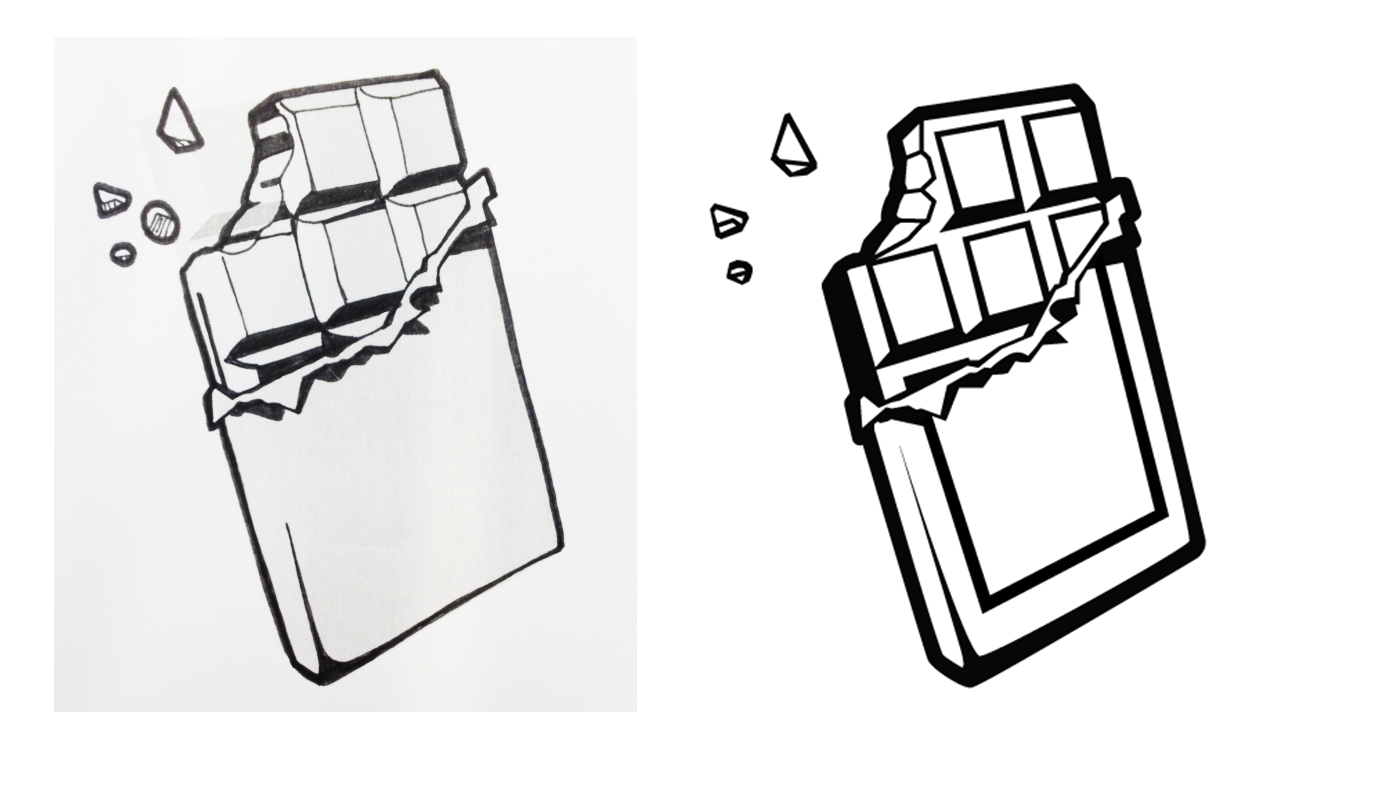 How To Draw Candy Bar Chocolate Bar Drawing