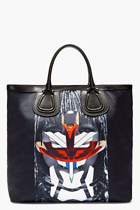 8d0ad96d098 Givenchy Black Canvas Robot Himba Tote Bag for men | Men's B&T + ACC ...