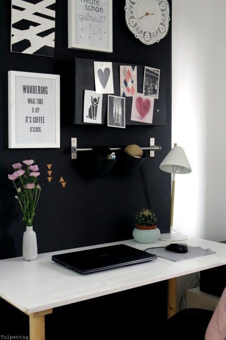 superior einfache dekoration und mobel ein repraesentatives buero einrichten #1: Home Office - neue Bilder aus dem Büro - Tulpentag. Der Blog #deko #