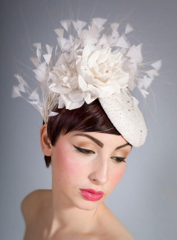 wedding hairstyles sophisticated hairpiece for short hair