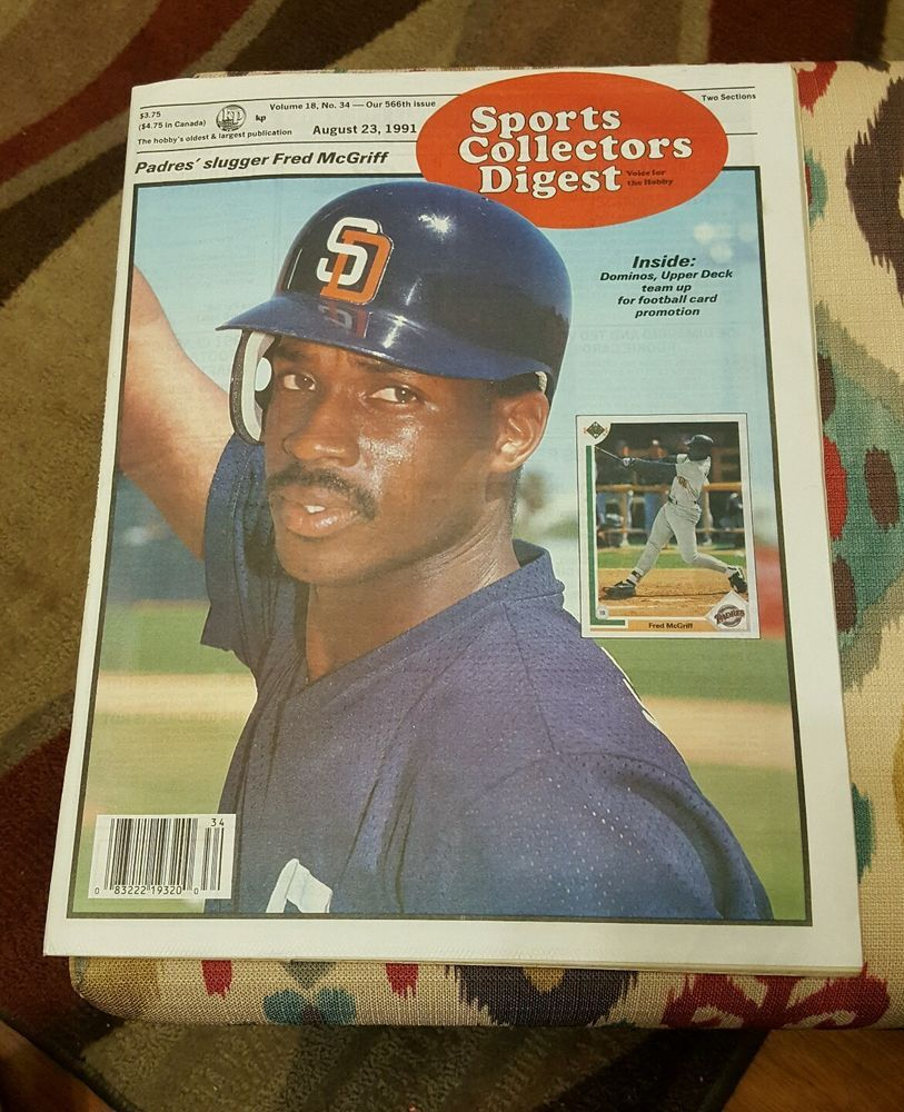 FRED MCGRIFF Sports Collector Digest Magazine August 23