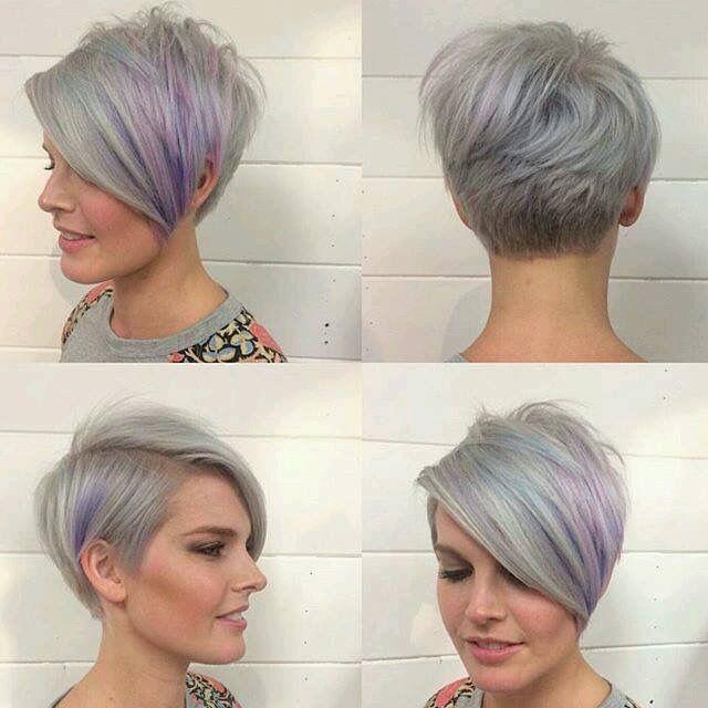 Taglio dei capelli grigi