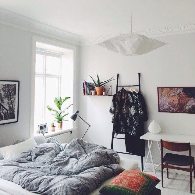 white, black, teak | Emma Solveigsdotter, via instagram | Dream Home ...