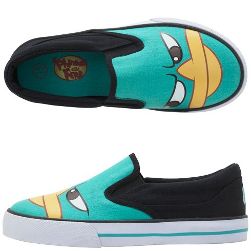 85929cb86672 Boys Phineas and FerbBoys  Phineas and Ferb Slip-On. I kid you not ...