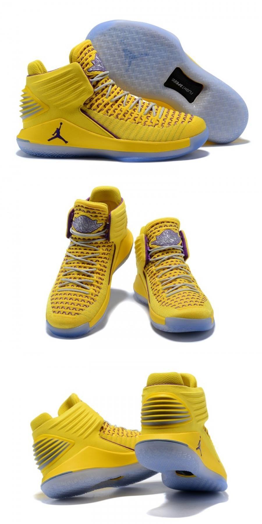 Air Jordan 32 Yellow Purple For