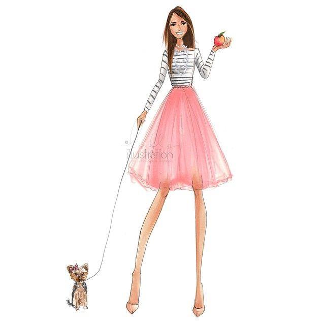 Holly Nichols Hnicholsillustration Websta Fashion Drawing Sketches Fashion Artwork Fashion Wall Art
