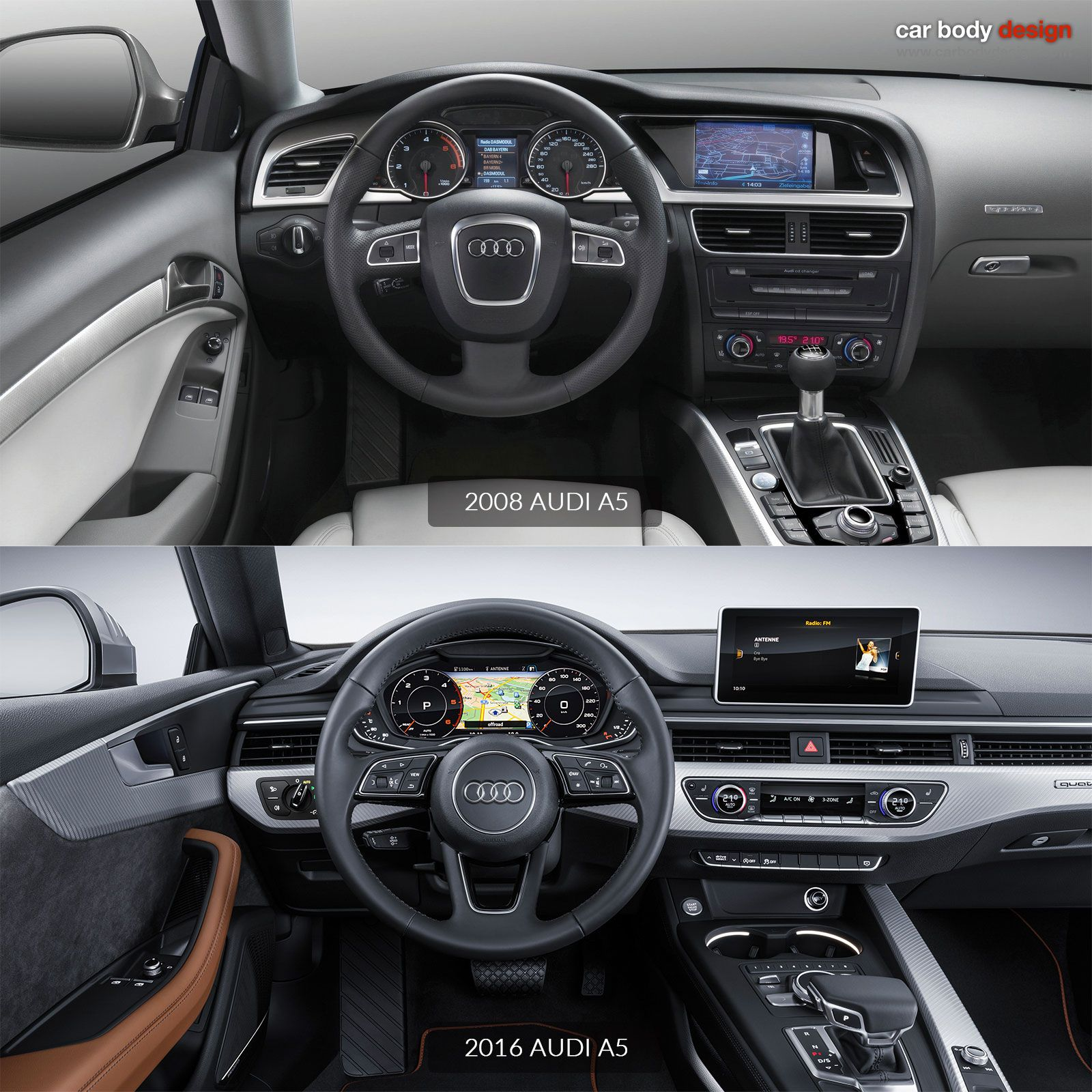 2008 Audi A5 Vs 2016 Audi A5 Interior Design Comparison Audi A5 Audi A5 Interior Audi A5 Coupe