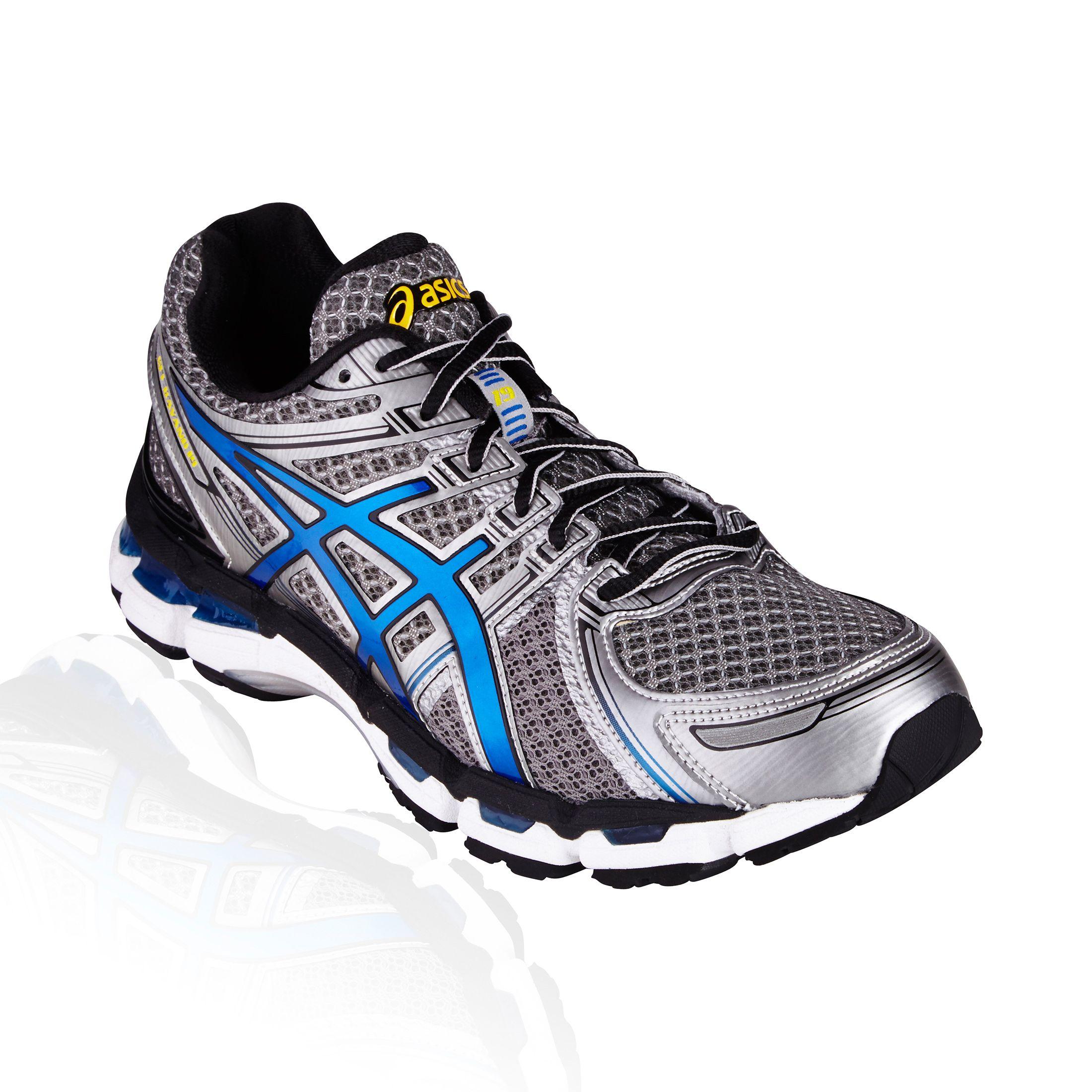 Asics Gel Kayano 19 Running Shoe Titanium Royal Black Asics