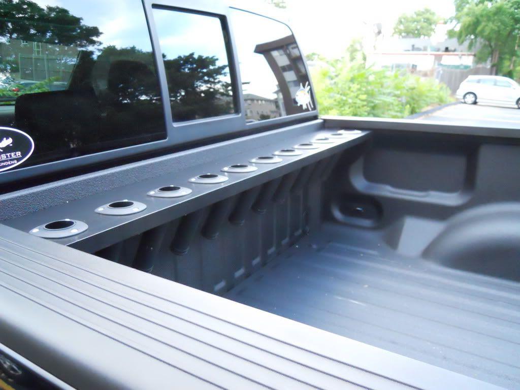 Bed mount rod rack | Rod rack, Custom truck beds, Truck