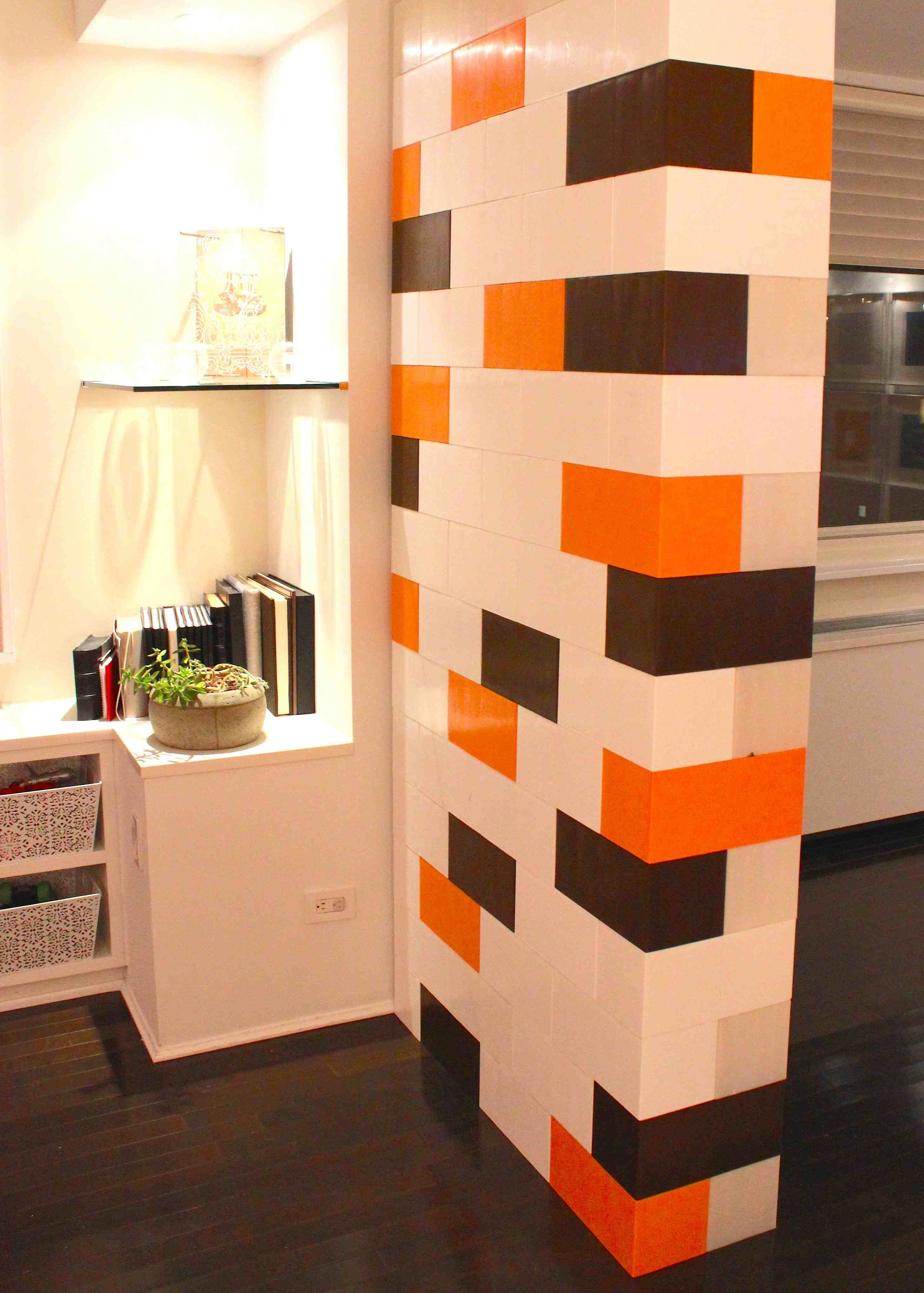 portable wall for dividing a room with a little flair using everblock