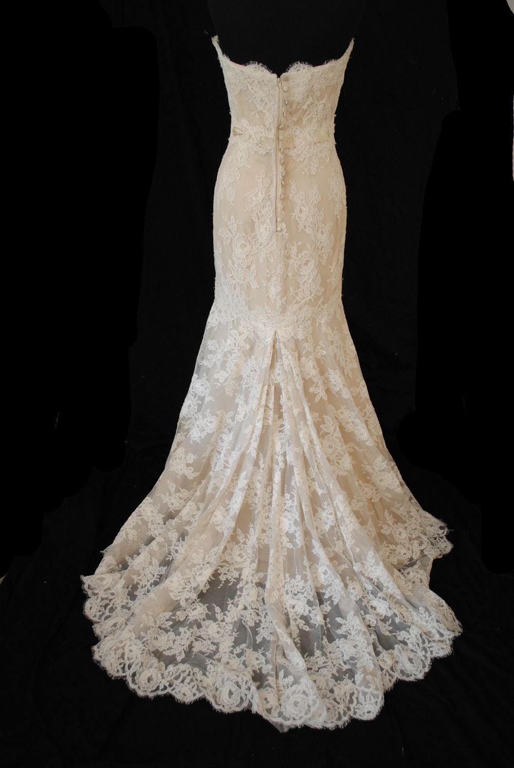 Monique Lhuillier Amelie Size 5 Wedding Dress