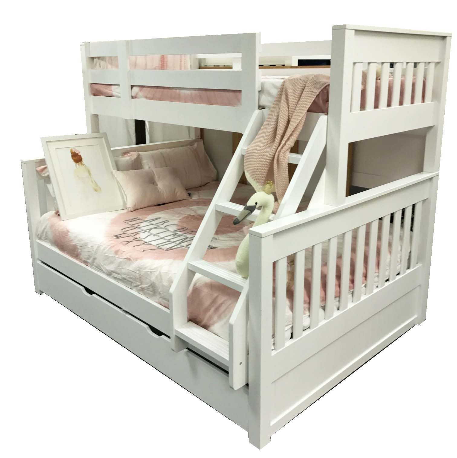 Best Riley Single Over Double Bunk Inc Trundle – In Stock 400 x 300