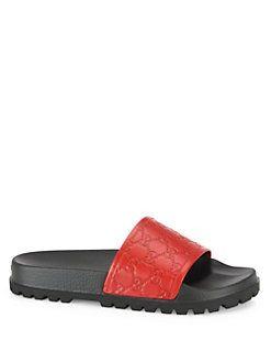92567495dd7 Gucci - Pursuit Trek Leather Slides