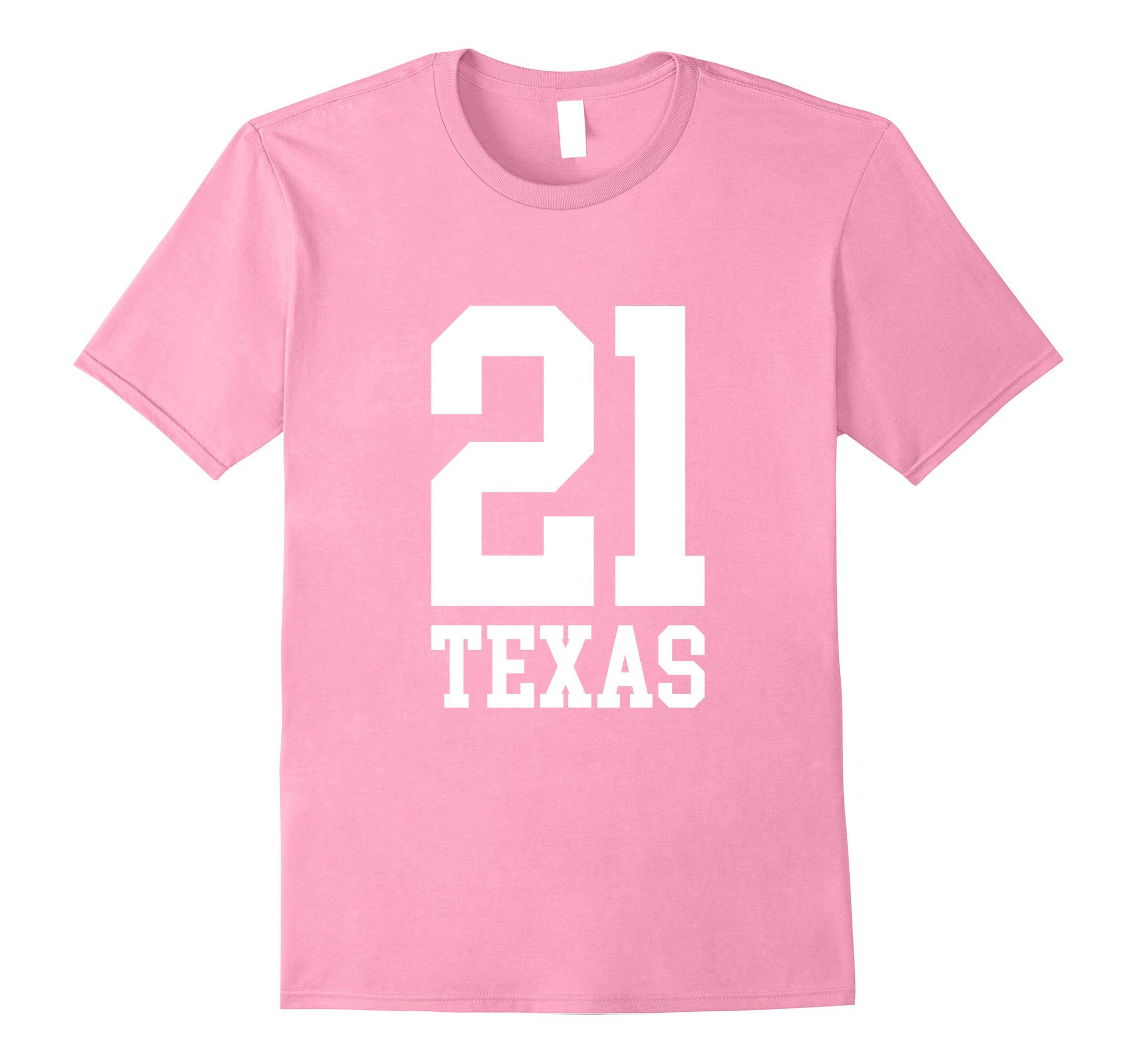 Amazon 21 TEXAS 21st Birthday Gift T Shirt Clothing
