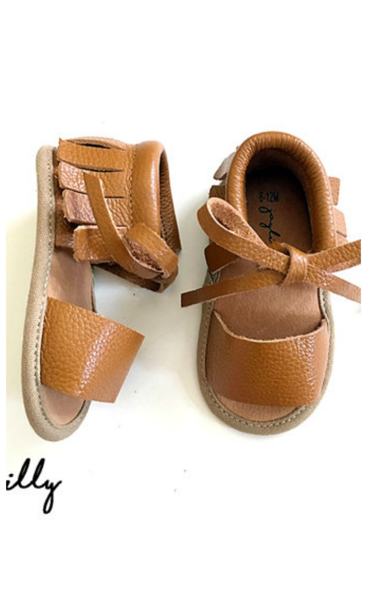 2f019c3e6 Joylilly moccasin sandals BROWN Baby Sandals