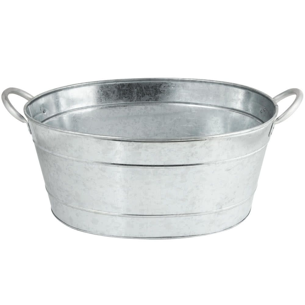 Tablecraft Bt1914 Oval Galvanized Steel Beverage Tub 19 X 14 X