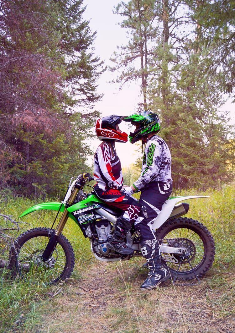 Motocross Engagement Dirt Bike Couple Dirt Bike Wedding