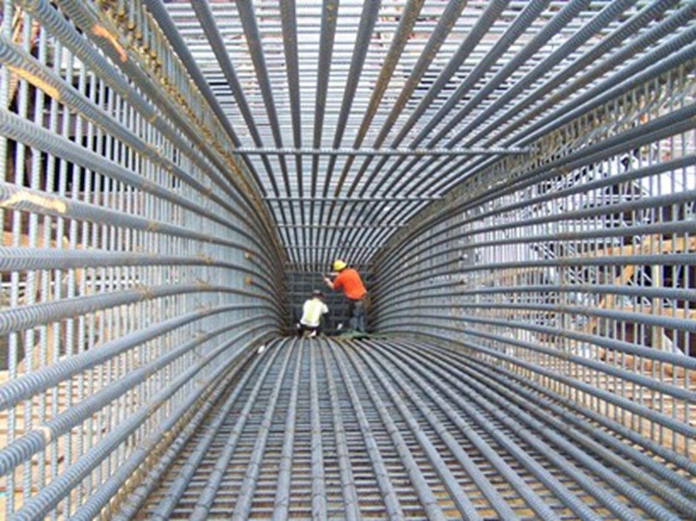 Rebar Formwork Construction Site In 2019 Concrete