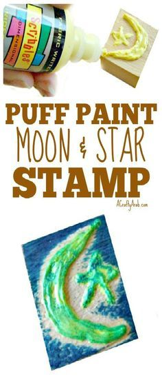 A Crafty Arab Puff Paint Moon Star Stamp Create Your