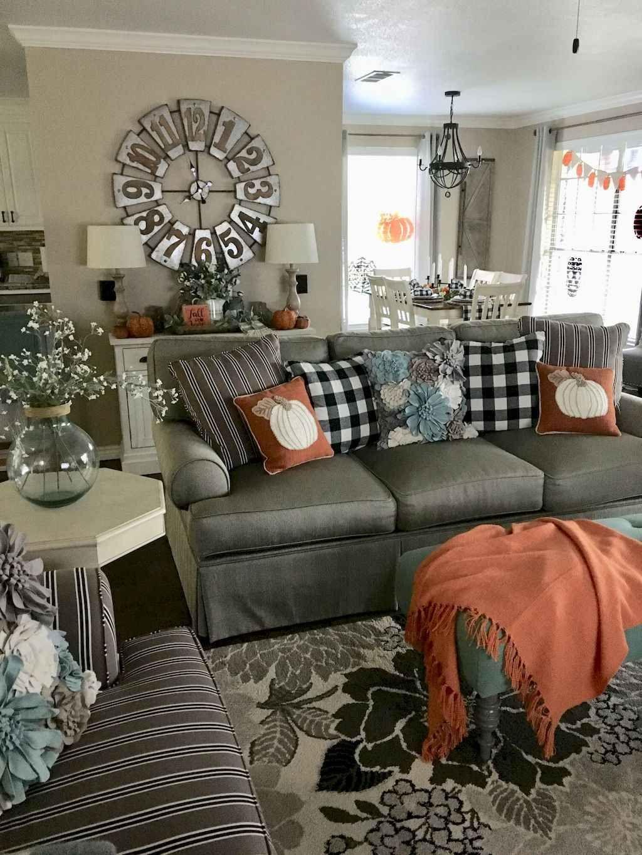 50 Cozy Farmhouse Living Room Makeover Décor Ideas Fall