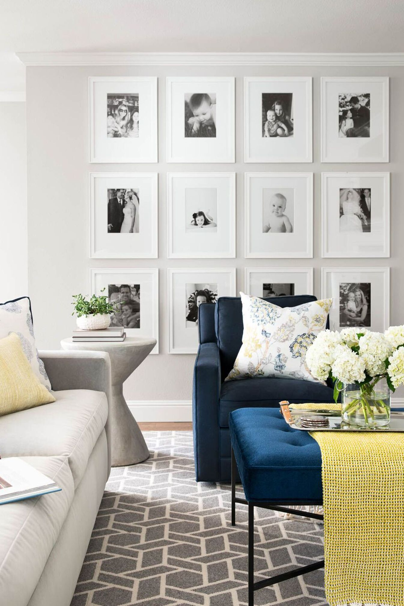 From Artsy To Eclectic Gallery Wall Inspiration For Your Home Gallery Wall Living Room Transitional Decor Living Room White Walls Living Room #photo #wall #ideas #for #living #room
