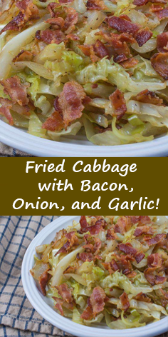 Fried Cabbage with Bacon, Onion, and Garlic!