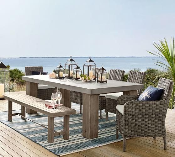 Best Abbott Dining Bench Gray Outdoor Dining Furniture 640 x 480