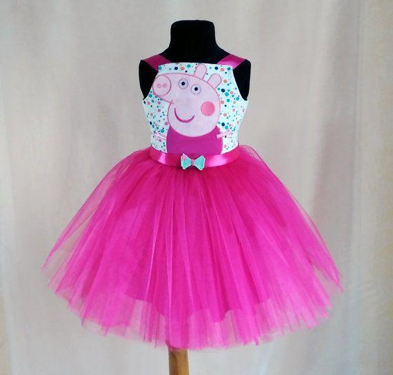 RESERVED for Naomi. Soft Pink Peppa Pig Birthday Dress, Peppa Pig ...
