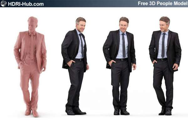 HDRI Hub - Free high res male 3d people  Already posed  For 3Ds Max