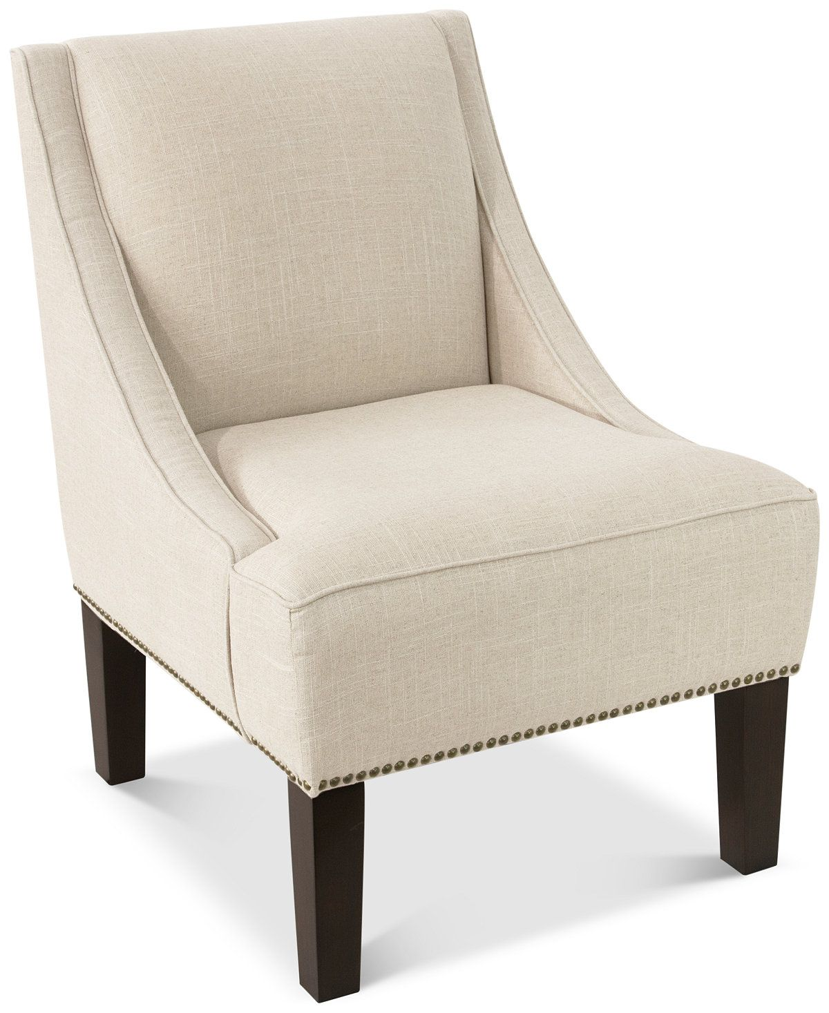 Glendale Nail Button Swoop Arm Chair, Quick Ship Chairs